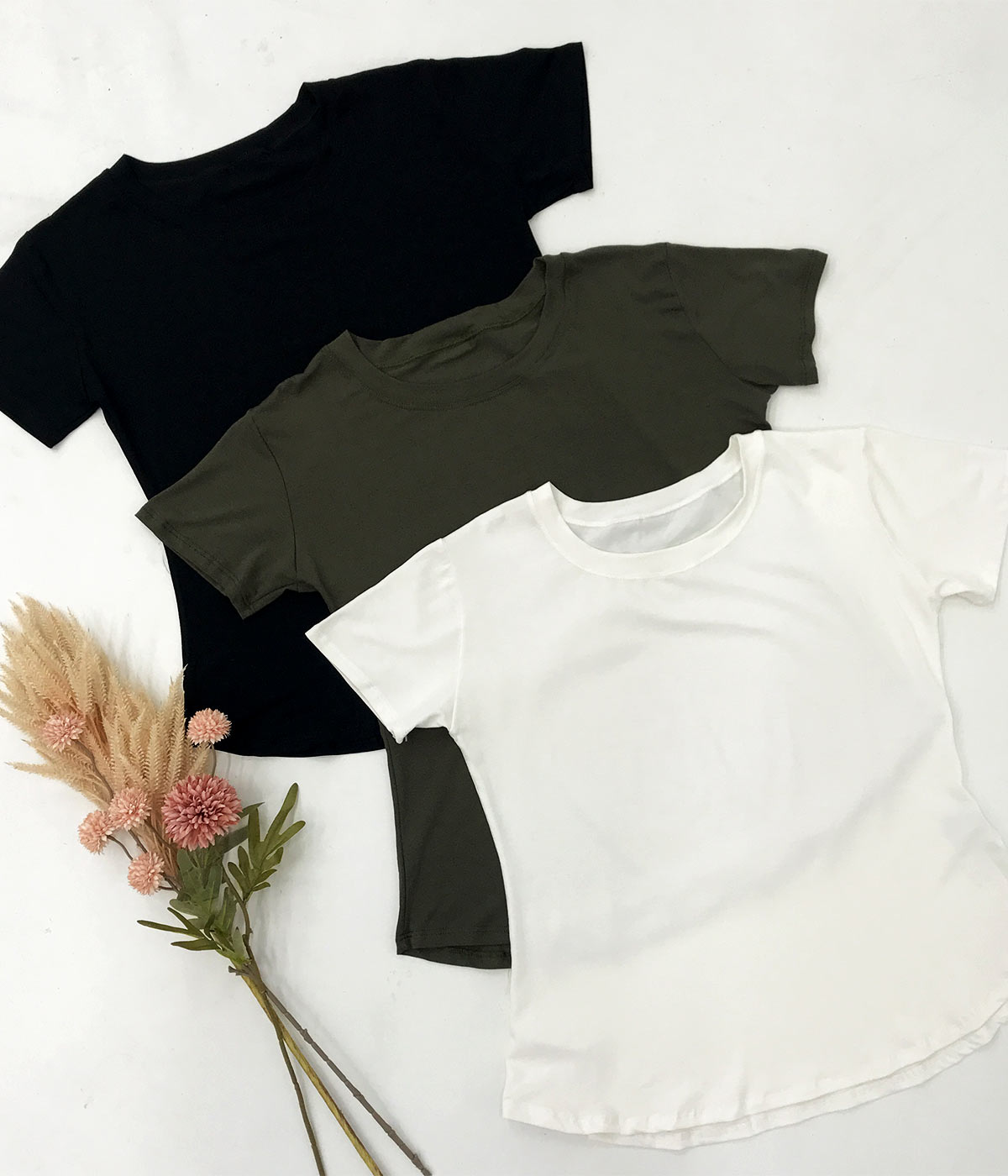 T-Shirt Malha Lisa Preta