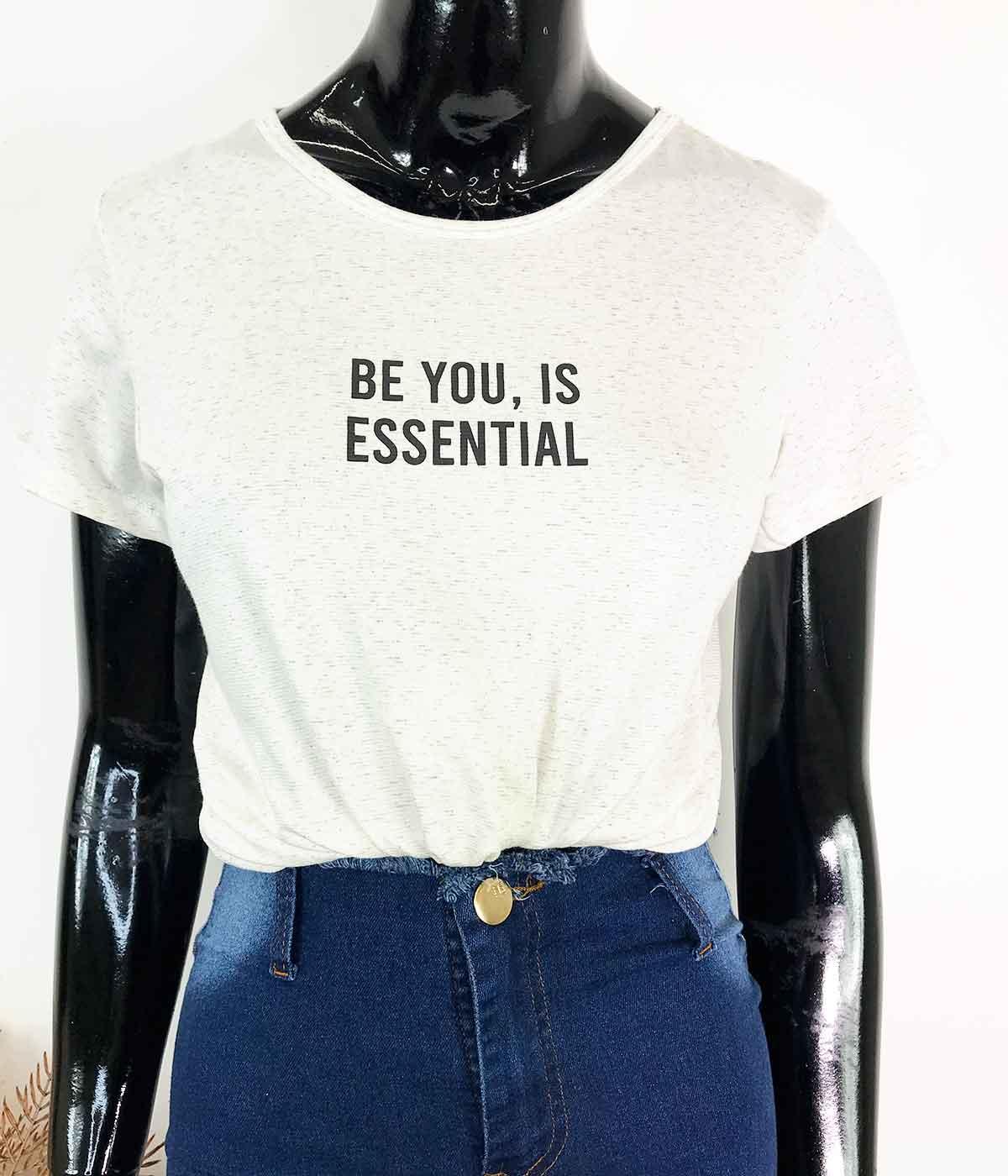 T-Shirt Ser Você é Essencial Mescla
