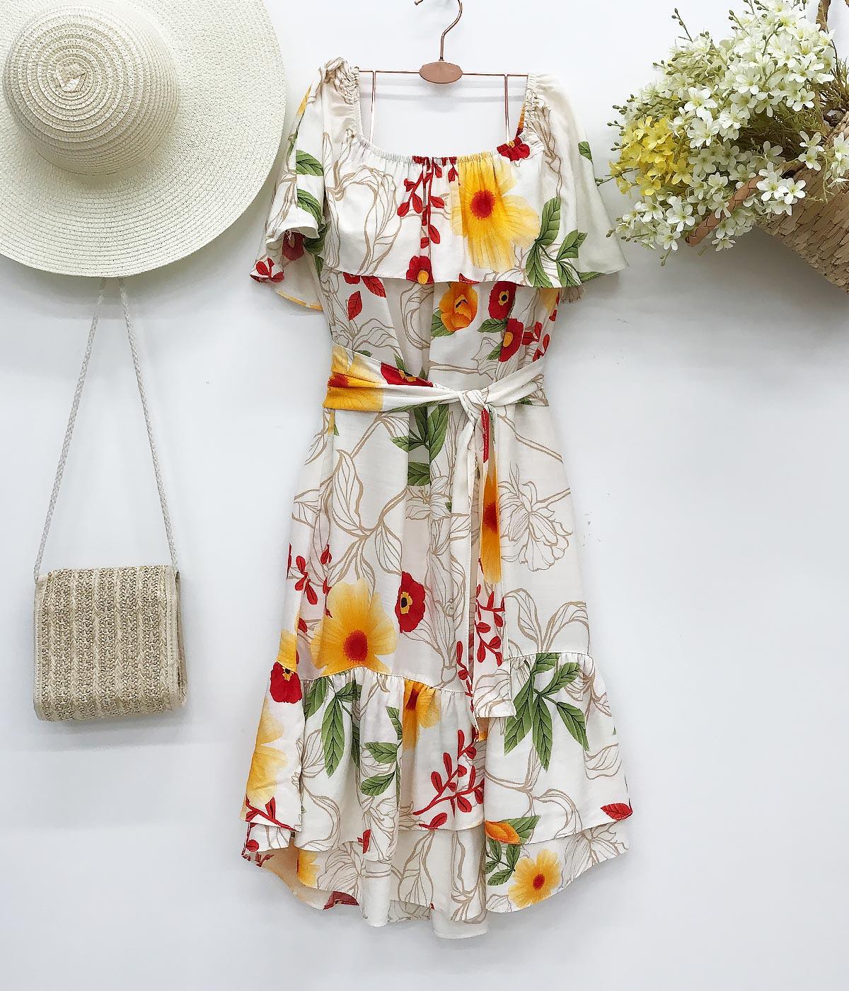 Vestido Fantasia Floral