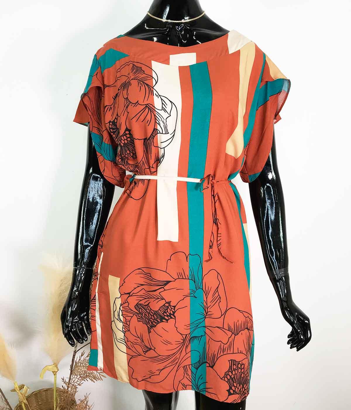 Vestido Flor Terracota