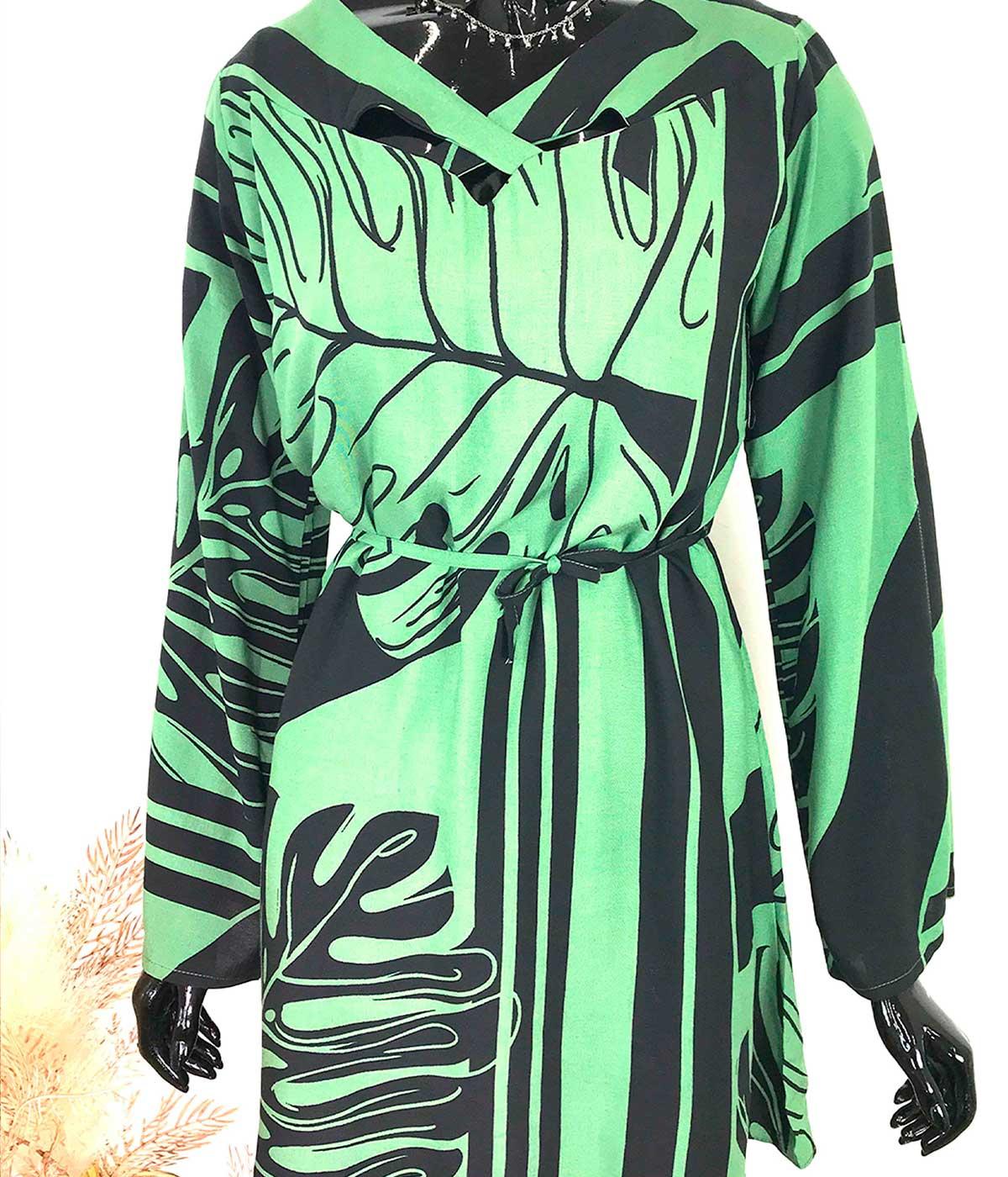 Vestido Folha Verde