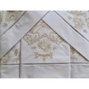 Roupa de cama Bordado Ilha da Madeira cor Branco/Perola