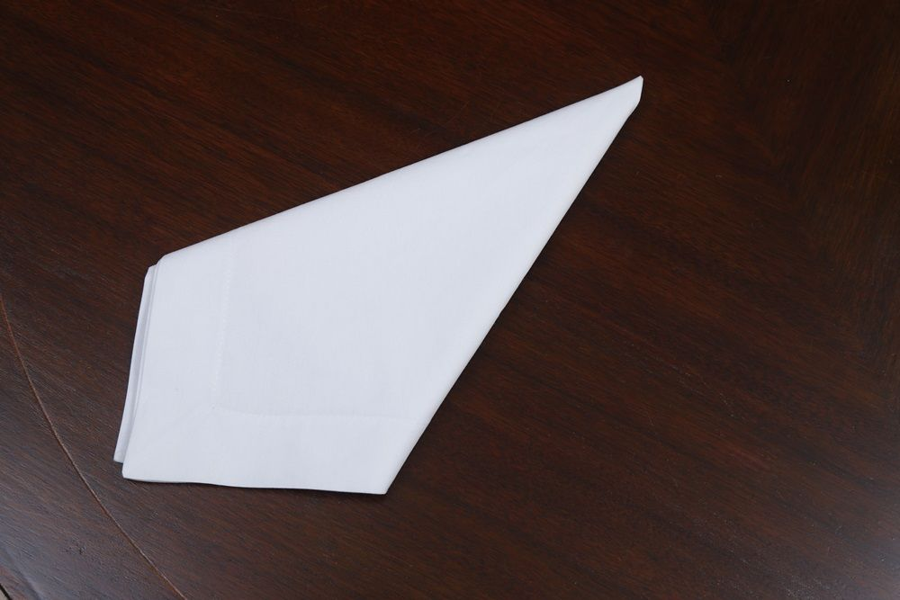 Guardanapo de Percal Branco 50x50 Kit 12  - Helô Reis Store