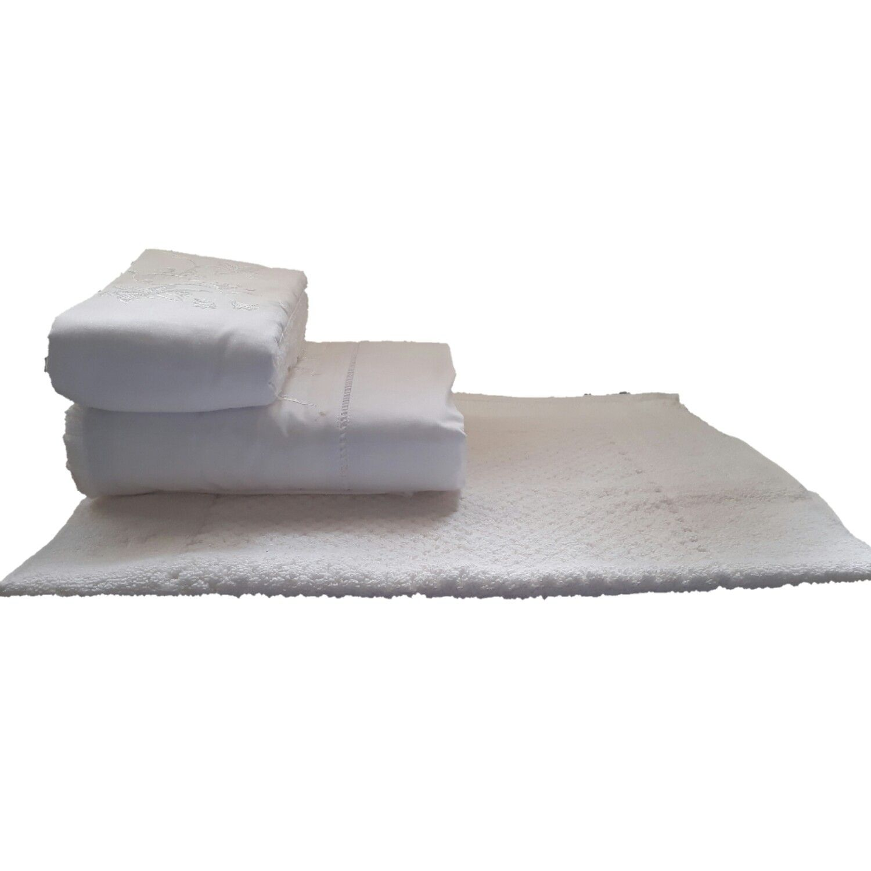 Jogo de Banho 3 peças Lírio branco  - Helô Reis Store