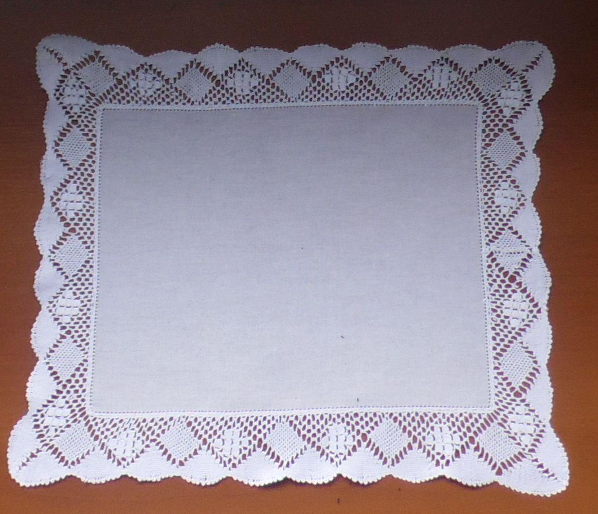 Jogo Americano de Linho branco/branco Renda Bilro Kit Com 12  - Helô Reis Store