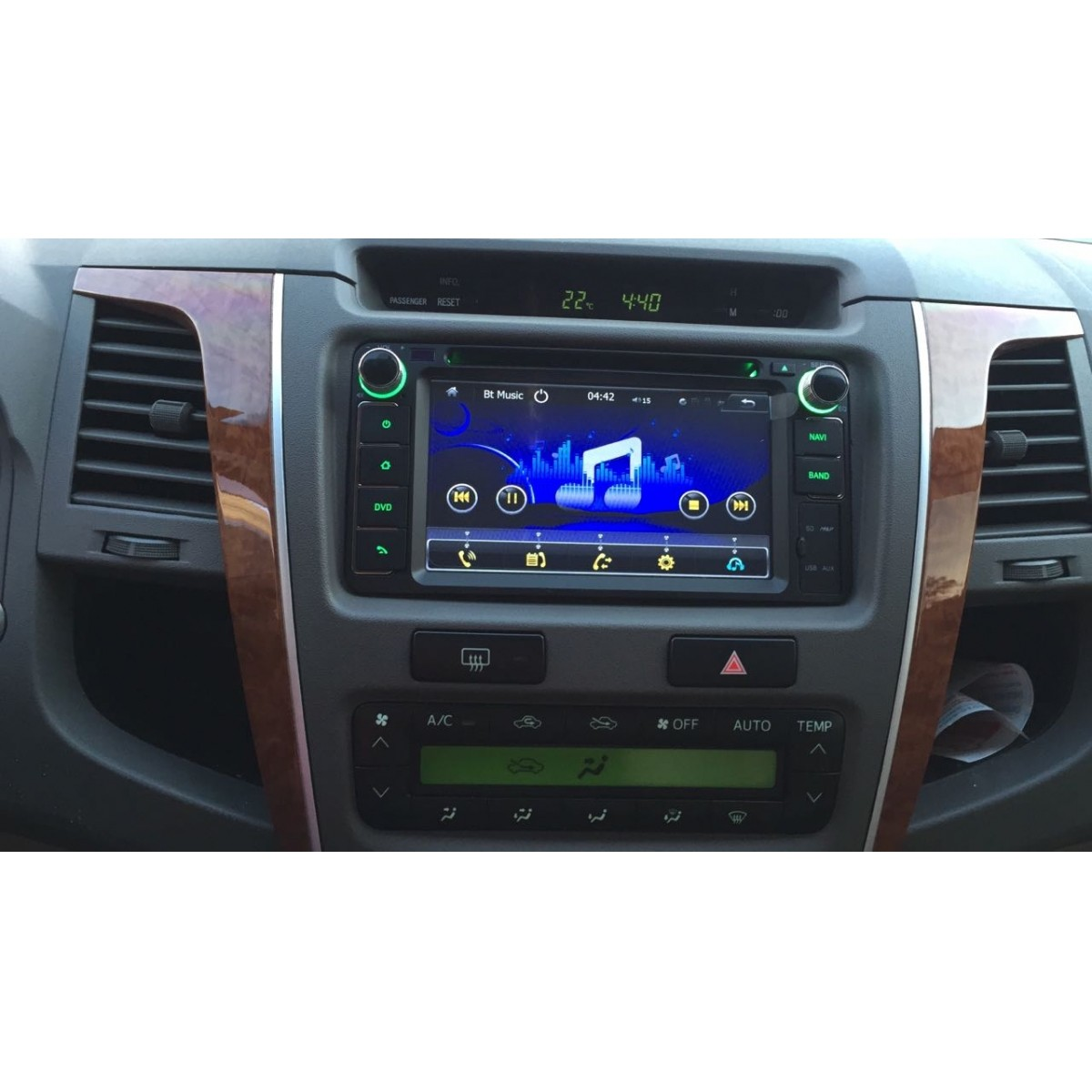 Central Multimídia Hilux Sw4 SR  2012 13 14  15 GPS Tv USB Sd BT Camera Espelhamento  - MARGI PARTS