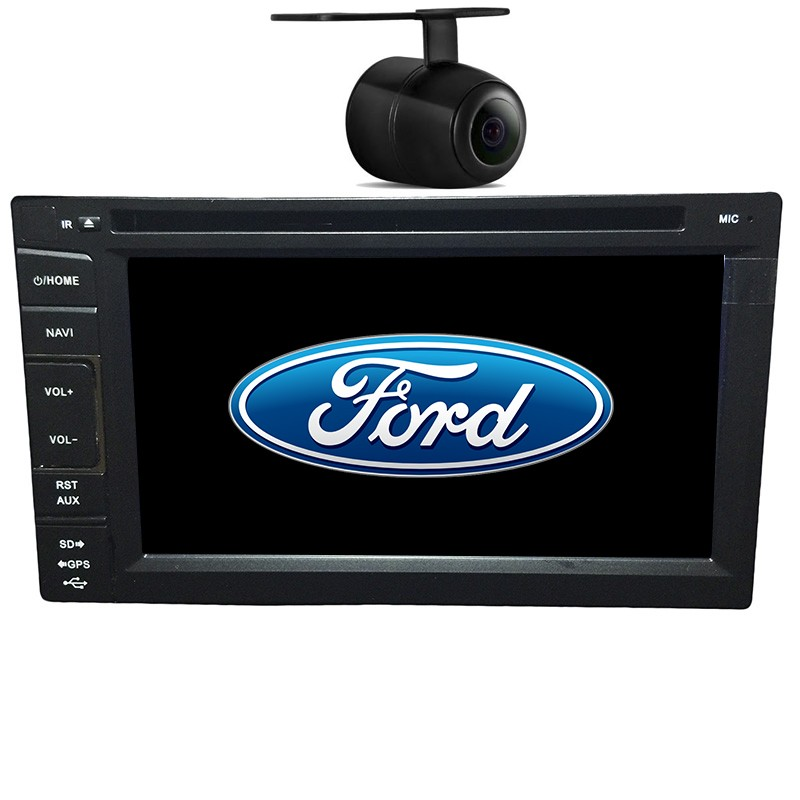 Central Multimidia Ford Fiesta 2003 04 05 06 07 08 09 10 11 12 13 14 GPS TV Camera Usb Sd BT Espelhamento  - MARGI PARTS