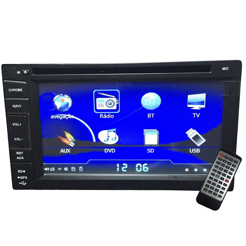 Central Multimidia Ford KA 2008 09 10 11 12 GPS TV Camera Usb Sd BT Espelhamento  - MARGI PARTS