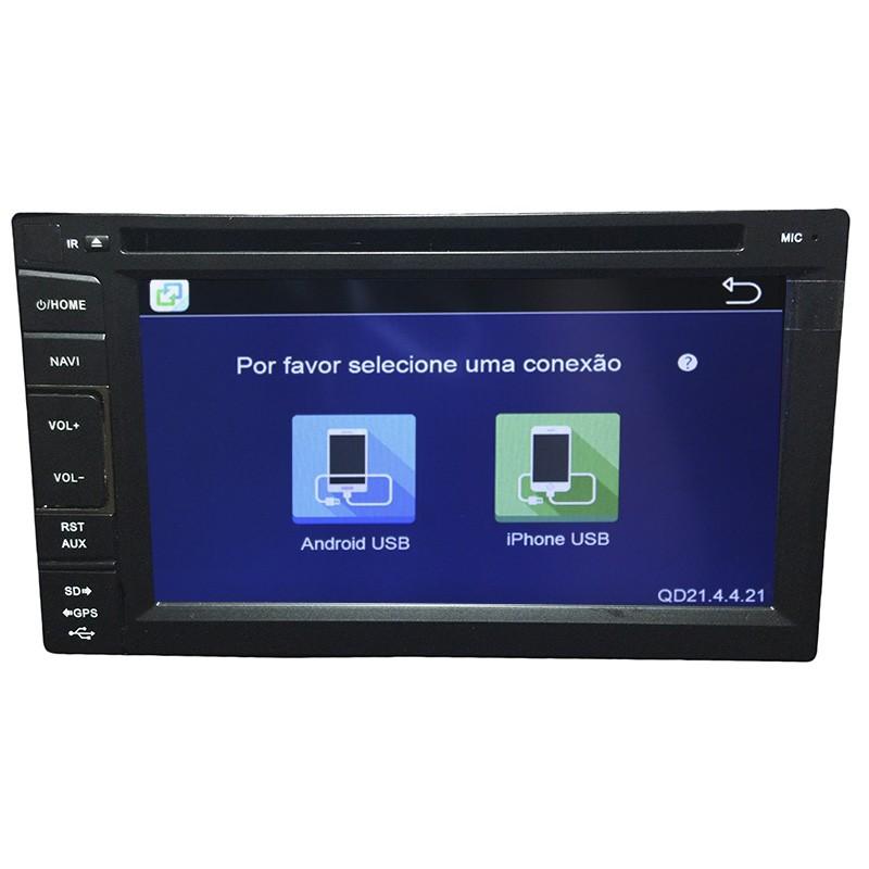 Central Multimidia Frontier 2009 10 11 12 13 14 GPS TV Camera BT Usb SD Espelhamento  - MARGI PARTS