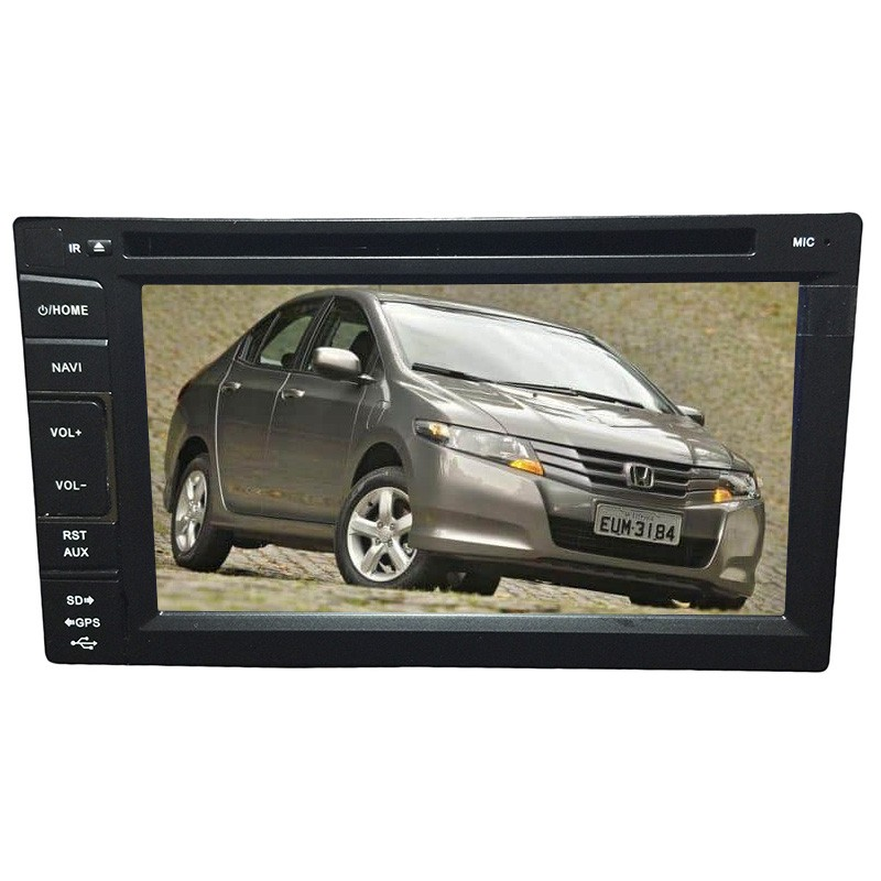 Central Multimidia Honda City DX 2010 11 12 13 14 GPS TV Camera Espelhamento BT USb Sd  - MARGI PARTS