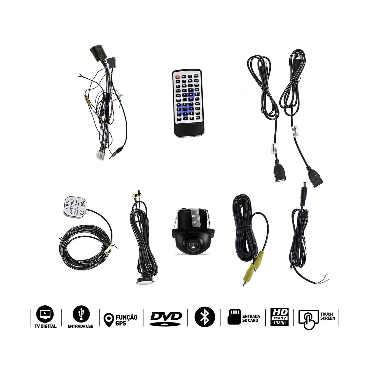 Central Multimidia Versa 2015 a 2016 GPS TV Camera Usb SD Camera Espelhamento  - MARGI PARTS