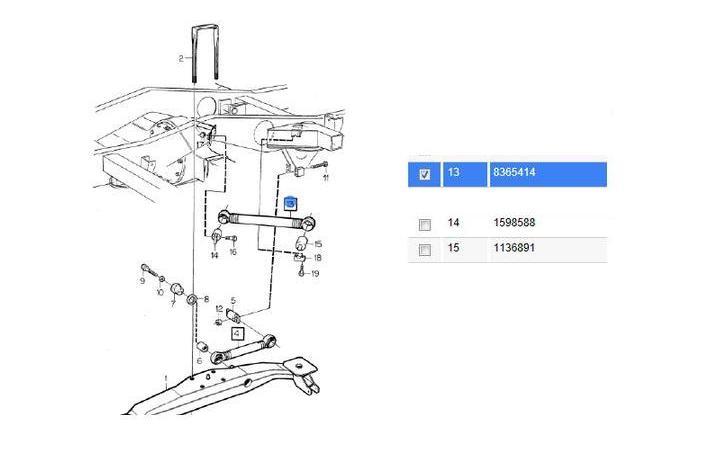 Barra de Reação Dianteiro Volvo B10M  8365414  - Onitruck