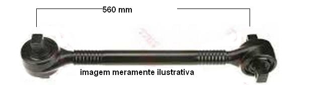 Barra de Reação Ônibus  O500 Mercedes  6343503306  - Onitruck