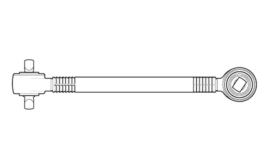 Barra de Reação Mercedes 0500 U 6343500906  - Onitruck
