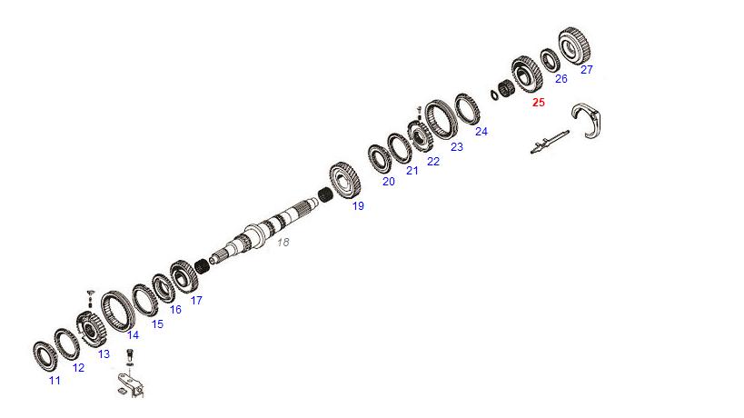 Engrenagem 1a Veloc. Movel Z=39 Cambio S5-680 S6-680  - Onitruck