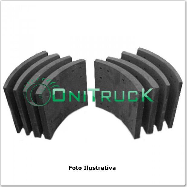 Lona de Freio Mercedes Benz dianteira O371/0400  - Onitruck