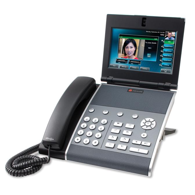 POLYCOM VVX 1500 Video Phone. Suporta até 6 linhas SIP com capacidade de vídeo e HDVoice. SEM fonte de alimentação.