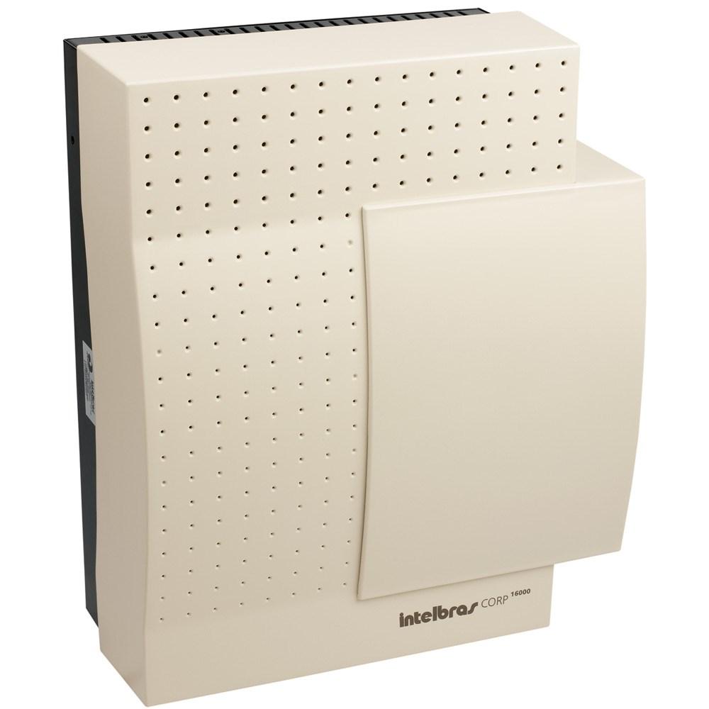 Central PABX Intelbras - Corp 16000 - Até 16 troncos analógicos e 64 ramais