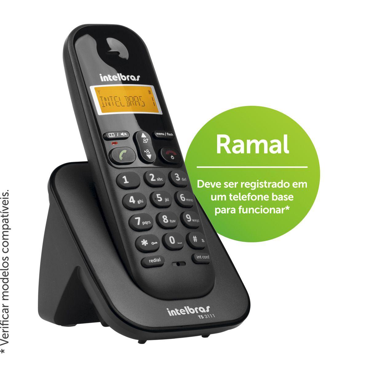Ramal sem fio TS 3111 PT - Hope Tech Telecomunicações