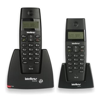 Telefone Intelbras TS 40 C sem fio - Hope Tech Telecomunicações