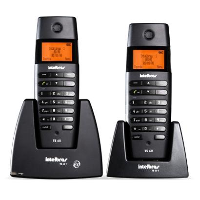 Telefone Intelbras TS 60 C sem fio
