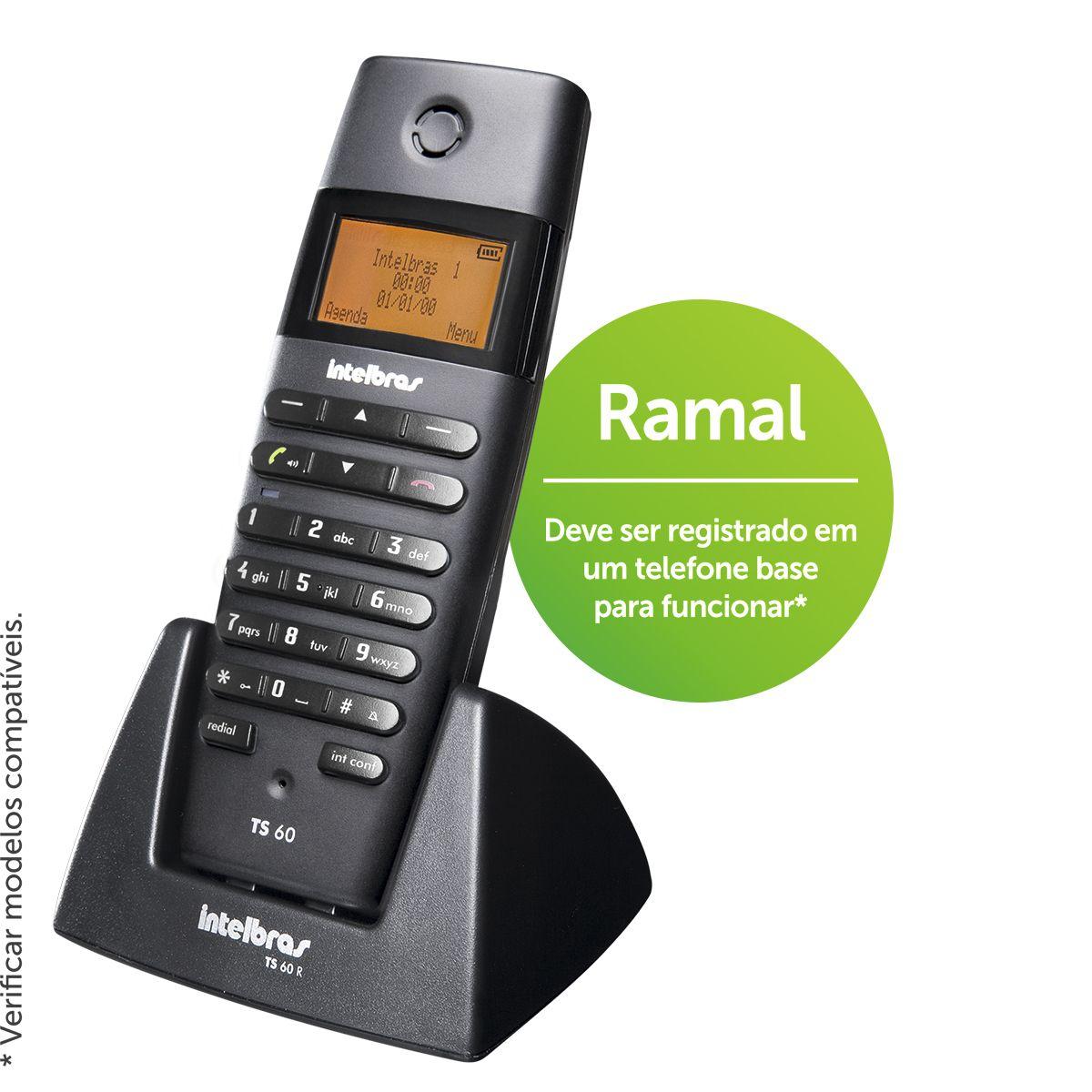 Intelbras Ramal sem fio TS 60 R - Hope Tech Telecomunicações