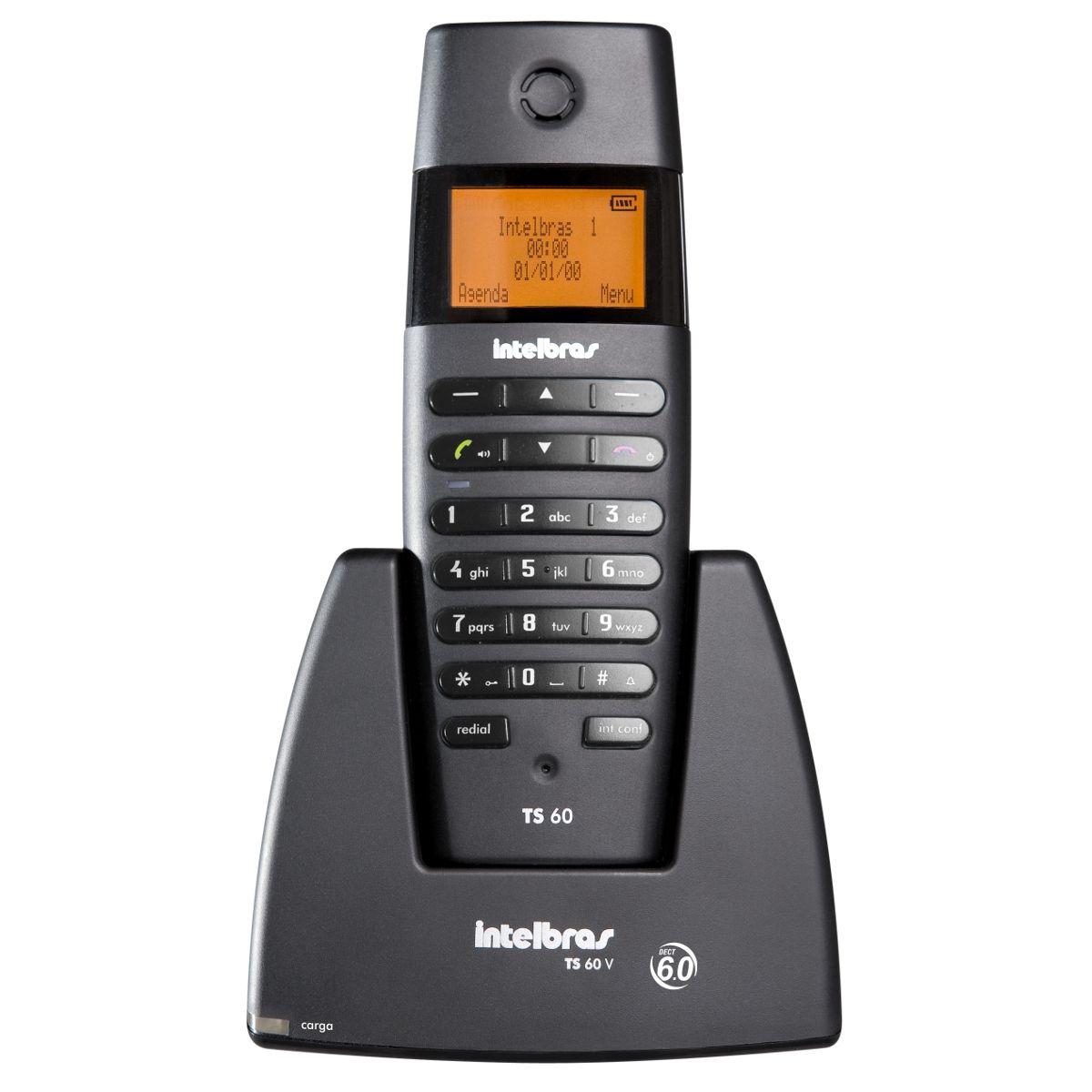 Telefone Intelbras TS 60 V sem fio - Hope Tech Telecomunicações