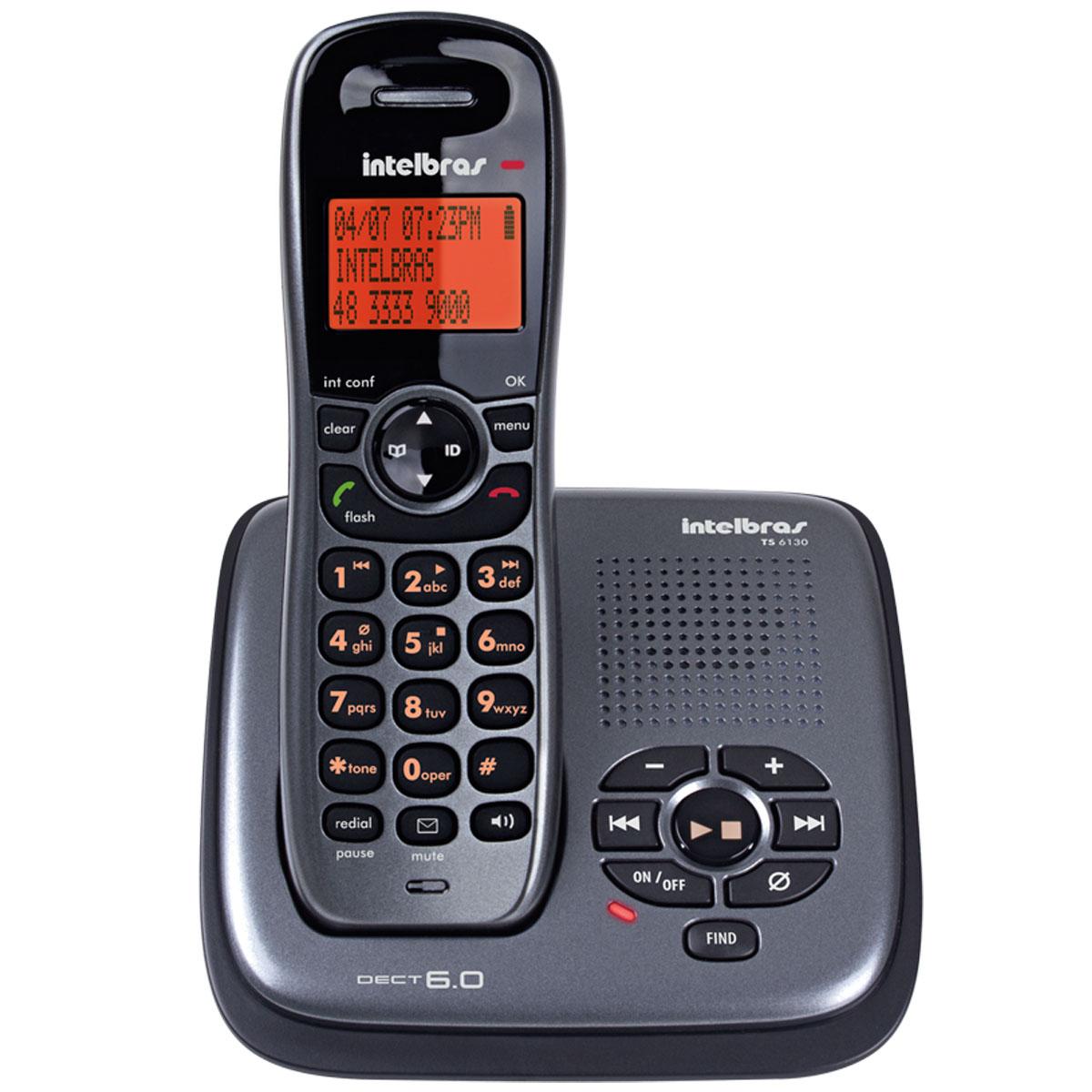 Telefone Intelbras TS 6130 sem fio