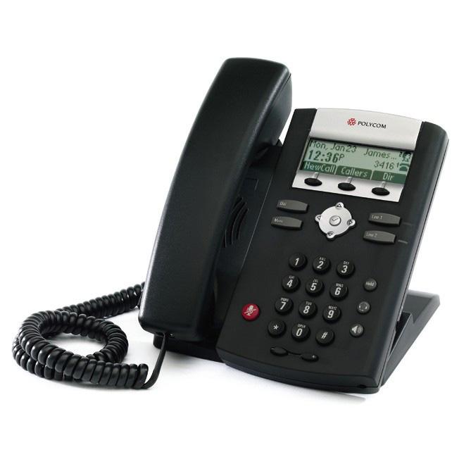 Aparelho de Telefone IP 331 SIP, PoE, 2 Linhas Polycom