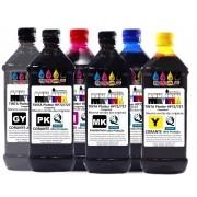 JG 6x500ml 6 cores Tinta Premium UV Plotter cod. HP72, HP727 exclusiva p/ Plotter HPT610, T770, T790, T795,T920, T1100, T1120, T1200, T1300, T1500, T2300, T2500