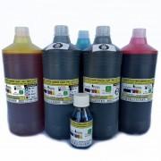 Jogo 5 ou 6 litrs Tinta Premium UV Plotters Canon IPF Serie 500, 600, 700, que utilizam cartuchos cod.PFI102 e PF107