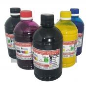 Jogo 5x250ml Tintas Pigmentada Premium Compatível Plotters Canon Ta-20 Ta-30 que utilizam cartuchos códigos PFI-030