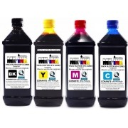 Tinta Jogo 4 litros Plotter HP 4 cores exclusiva p/ Plotter HP 500, 510, 520, 800, 815, 820, 70, 100, 110, 111, 120 etc.