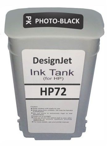Cartucho Novo Compativel Plotter HP 72 Designjet: T610, T620, T770, T790, T795, T1100, T1120, T1200, T1300, T2300