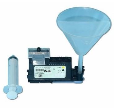 Kit Snap Fill para cartuchos de cabeças HP70, HP72, HP91, HP771, HP88, HP940 etc. para recarga de tintas e pressurizador de cabeças de impressão + Fluido Limpeza de cabeças
