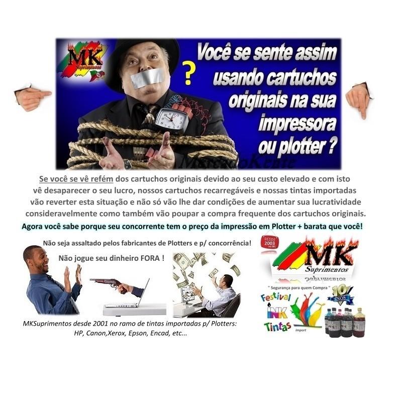 Tinta 500ml Plotter HP72 / HP727 exclusiva p/ Plotter HPT610, T770, T790, T795, T920, T1100, T1120, T1200, T1300, T1500, T2300, T2500