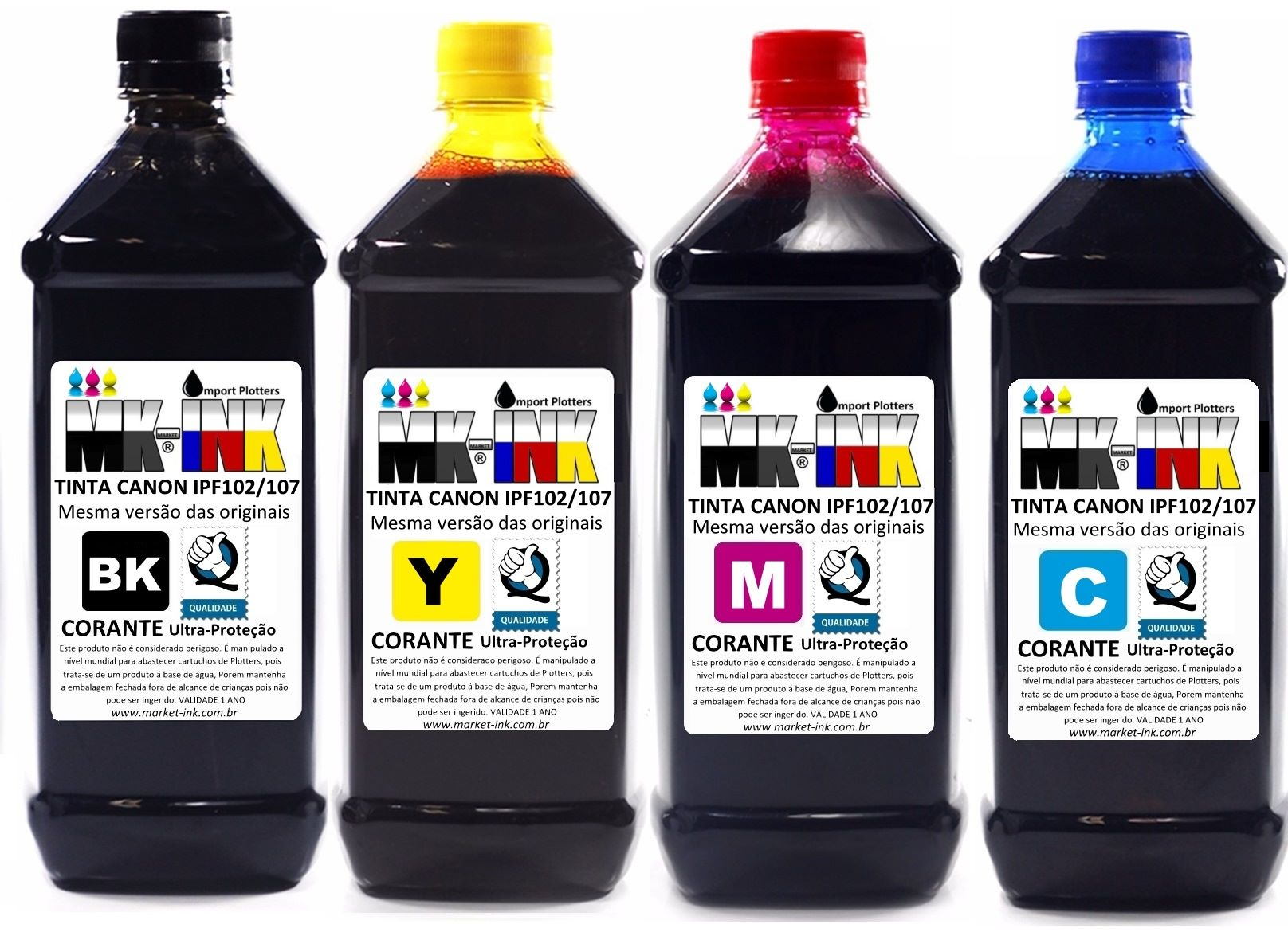 Tinta 250ml Plotter HP 4 cores exclusiva p/ Plotter HP 500, 510, 520, 800, 815, 820, 70, 100, 110, 111, 120 ..