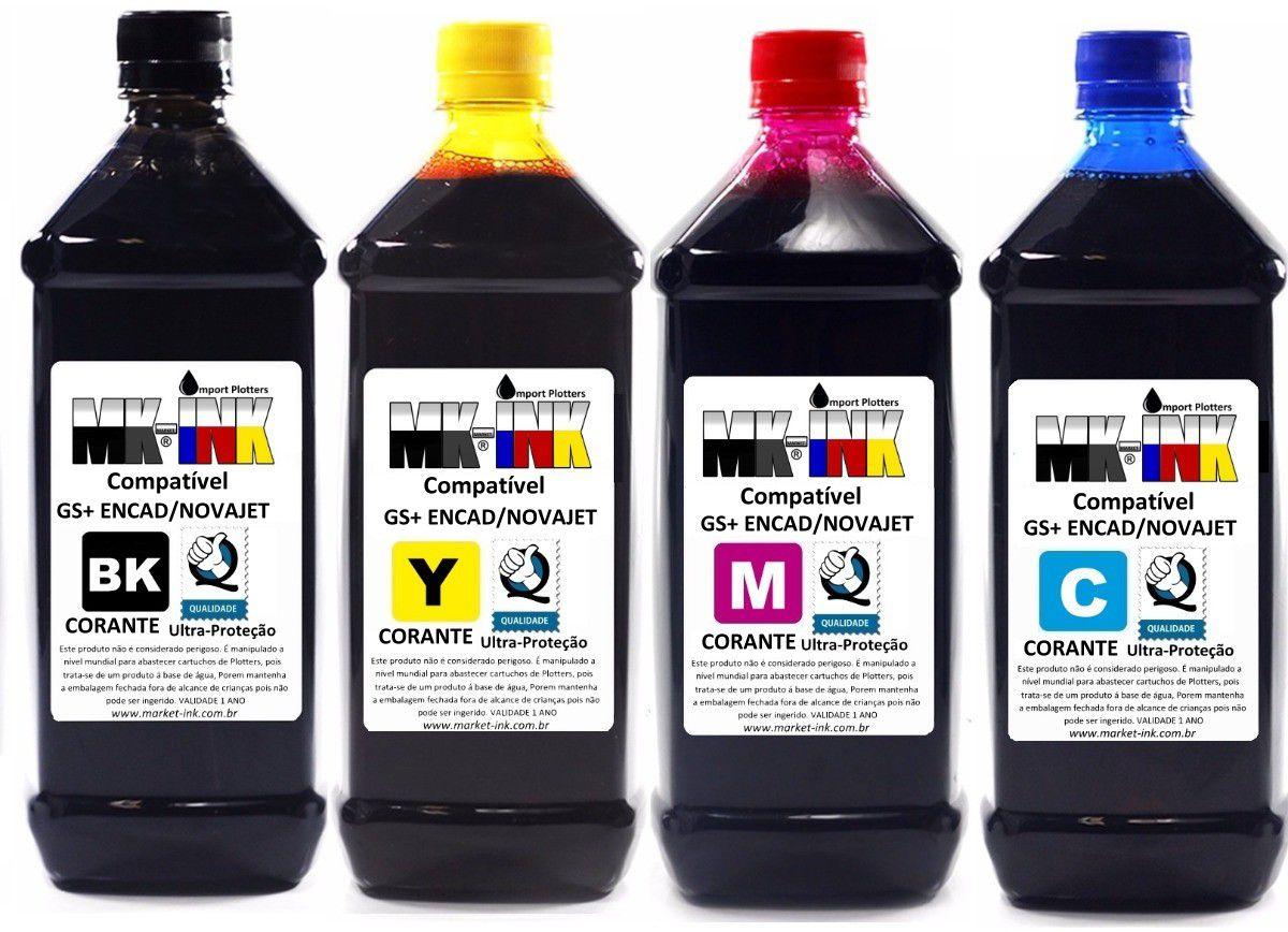 Tinta 500ml GS+ corante Plotter Encad 7500 Novajet, Kodak, Viagrafx