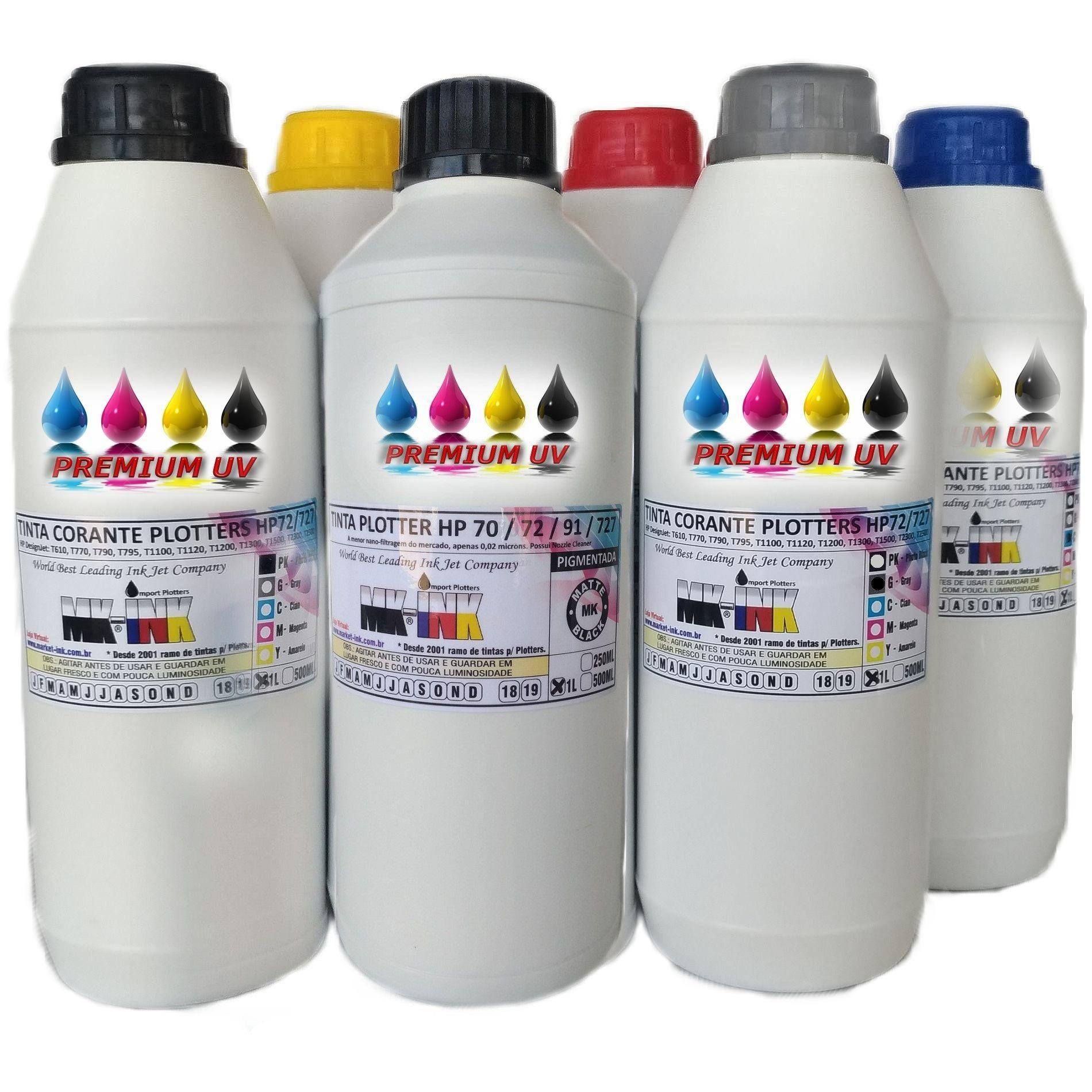 Tinta litro Premium UV litro Plotter dos cartuchos HP72, HP727 modelos Plotter HP: T610, T770, T790, T795,T920, T1100, T1120, T1200, T1300, T1500, T2300, T2500