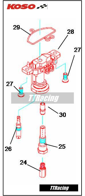 Sede agulha do pistonete KOSO  - T & T Soluções