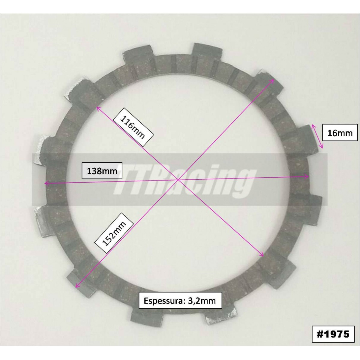Disco Embreagem BANDIT 600  - T & T Soluções