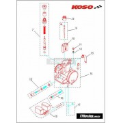 Afogador carburador KOSO 34 32 30mm