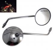 Espelho Retrovisor Compatível YAMAHA RS125 RS 125 Metal Cromado