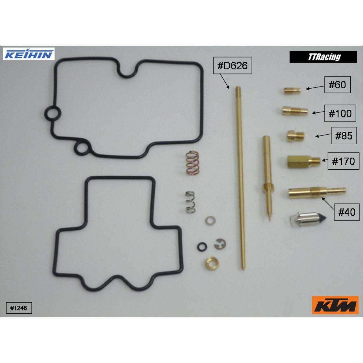 Reparo carburador Keihin CR FLAT FCR-MX  - T & T Soluções