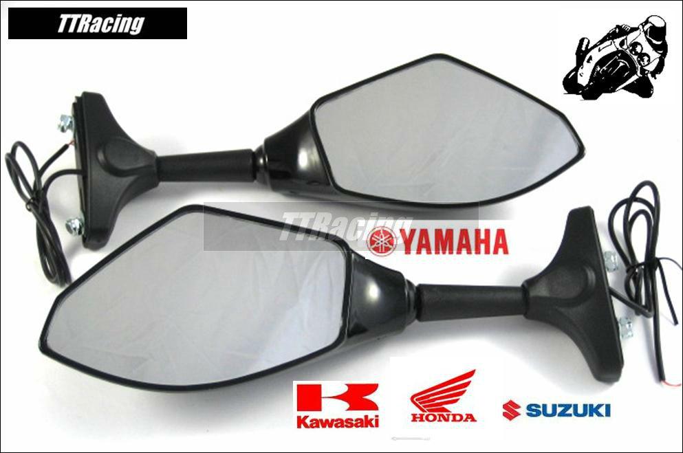 Espelho retrovisor GSX750F Ninja CBR Hayabusa com pisca LED  - T & T Soluções