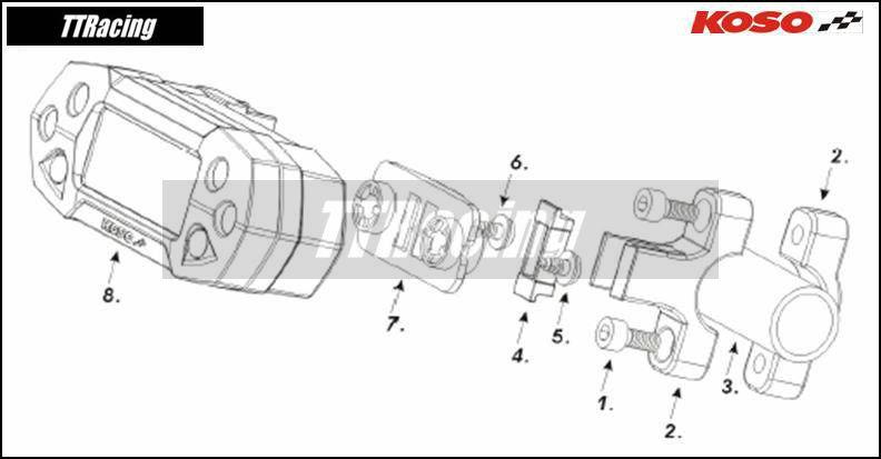 Painel KOSO DB-01R  - T & T Soluções