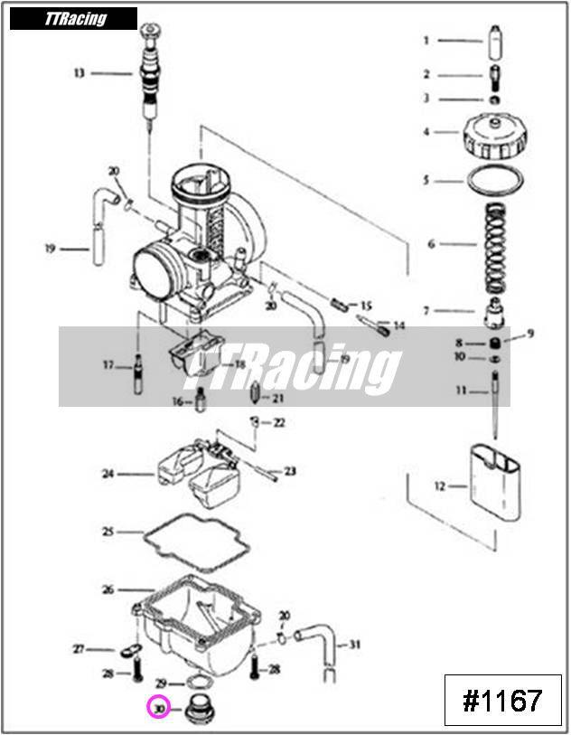 Parafuso dreno da cuba PJ PWK  - T & T Soluções