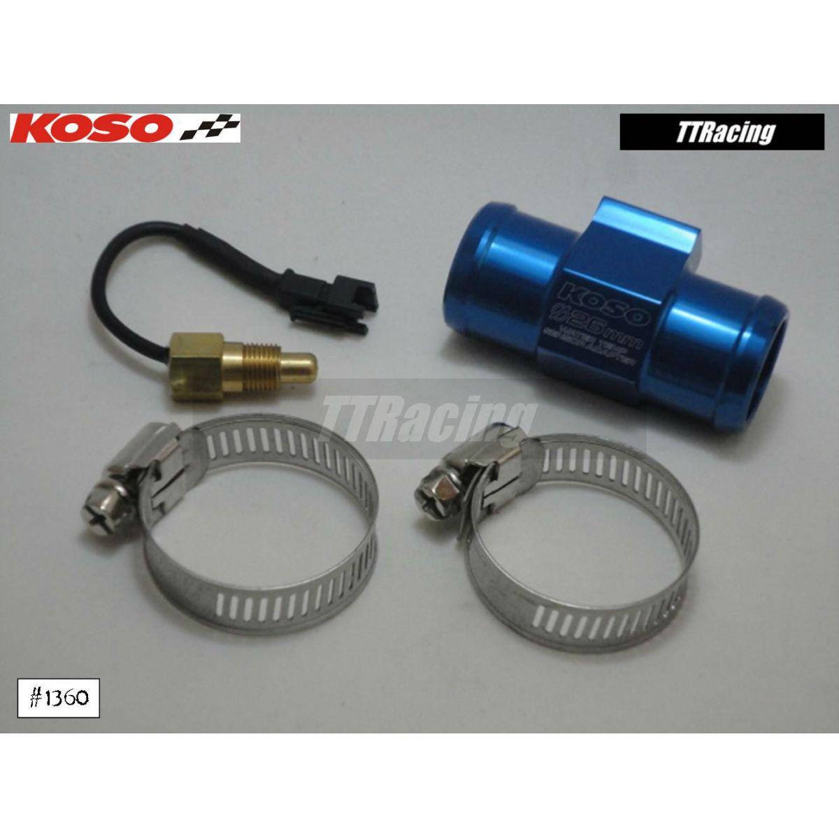 Adaptador Sensor Temperatura Koso Água Radiador 26mm  - T & T Soluções