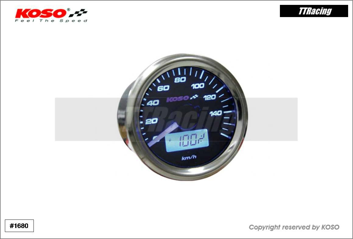 Velocímetro KOSO 48mm 0 - 160 Km/H  - T & T Soluções