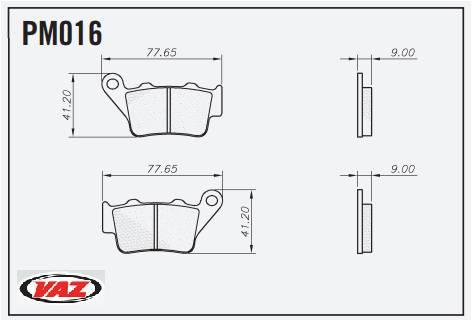 Pastilha de Freio CB500 Traseira 1997-2003  - T & T Soluções